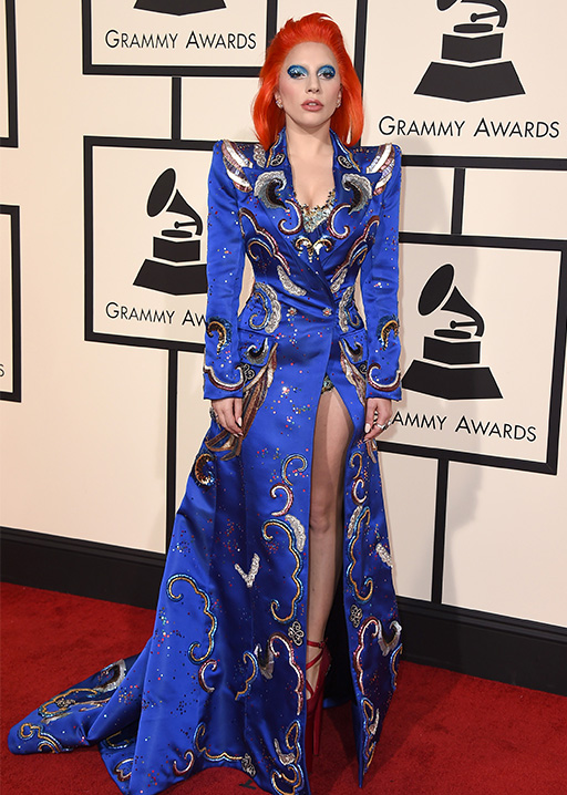 "<div class=""meta image-caption""><div class=""origin-logo origin-image ap""><span>AP</span></div><span class=""caption-text"">Lady Gaga arrives at the 58th annual Grammy Awards at the Staples Center on Monday, Feb. 15, 2016, in Los Angeles. (Jordan Strauss/Invision/AP)</span></div>"