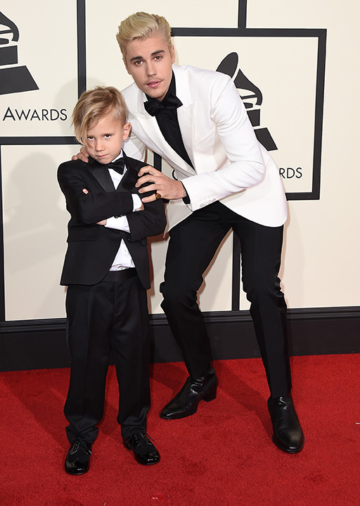 "<div class=""meta image-caption""><div class=""origin-logo origin-image ap""><span>AP</span></div><span class=""caption-text"">Jaxon Bieber, left, and Justin Bieber arrive at the 58th annual Grammy Awards at the Staples Center on Monday, Feb. 15, 2016, in Los Angeles. (Jordan Strauss/Invision/AP)</span></div>"