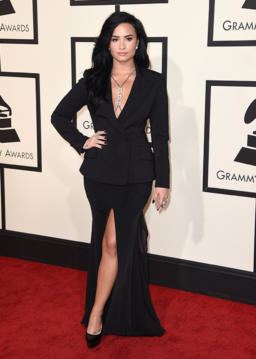 "<div class=""meta image-caption""><div class=""origin-logo origin-image ap""><span>AP</span></div><span class=""caption-text"">Demi Lovato arrives at the 58th annual Grammy Awards at the Staples Center on Monday, Feb. 15, 2016, in Los Angeles. (Jordan Strauss/Invision/AP)</span></div>"