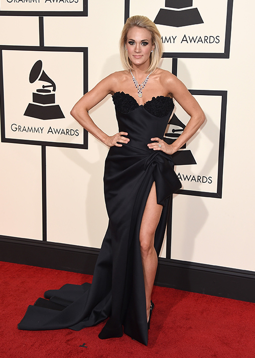"<div class=""meta image-caption""><div class=""origin-logo origin-image ap""><span>AP</span></div><span class=""caption-text"">Carrie Underwood arrives at the 58th annual Grammy Awards at the Staples Center on Monday, Feb. 15, 2016, in Los Angeles. (Jordan Strauss/Invision/AP)</span></div>"