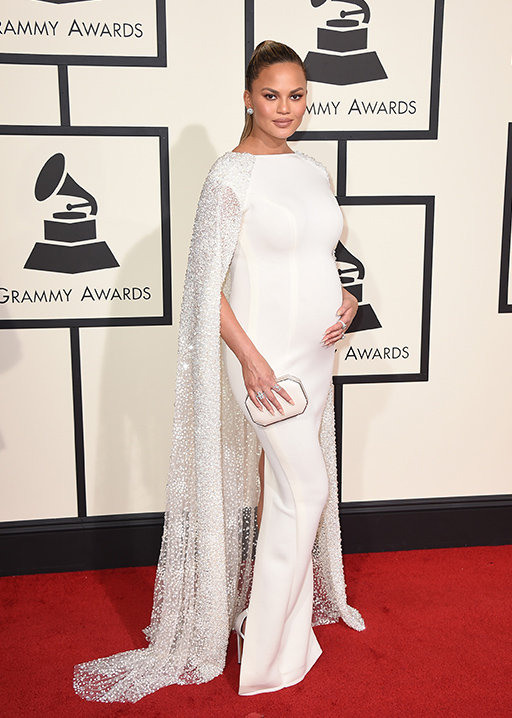"<div class=""meta image-caption""><div class=""origin-logo origin-image ap""><span>AP</span></div><span class=""caption-text"">Chrissy Teigen arrives at the 58th annual Grammy Awards at the Staples Center on Monday, Feb. 15, 2016, in Los Angeles. (Jordan Strauss/Invision/AP)</span></div>"