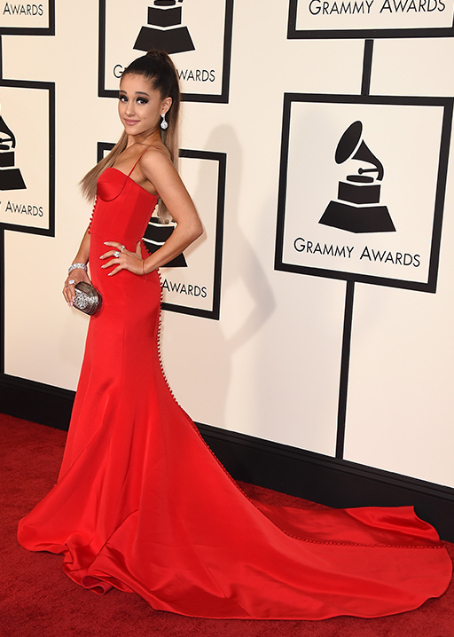 "<div class=""meta image-caption""><div class=""origin-logo origin-image ap""><span>AP</span></div><span class=""caption-text"">Ariana Grande arrives at the 58th annual Grammy Awards at the Staples Center on Monday, Feb. 15, 2016, in Los Angeles. (Jordan Strauss/Invision/AP)</span></div>"