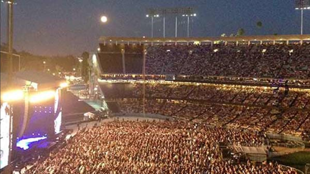 Dodger Stadium could soon be hosting more big concerts, like this performance by Paul McCartney in August 2014.