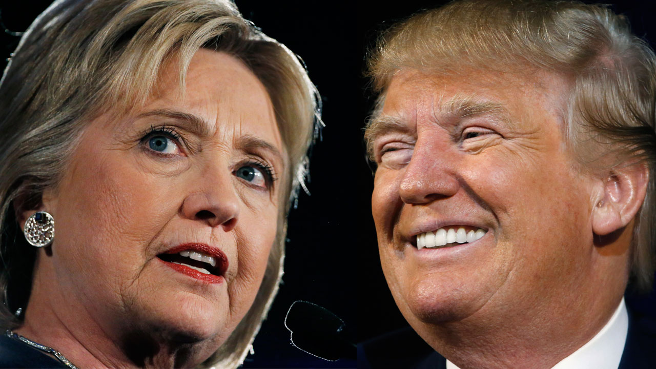 Democratic presidential candidate Hillary Clinton and Republican presidential candidate Donald Trump