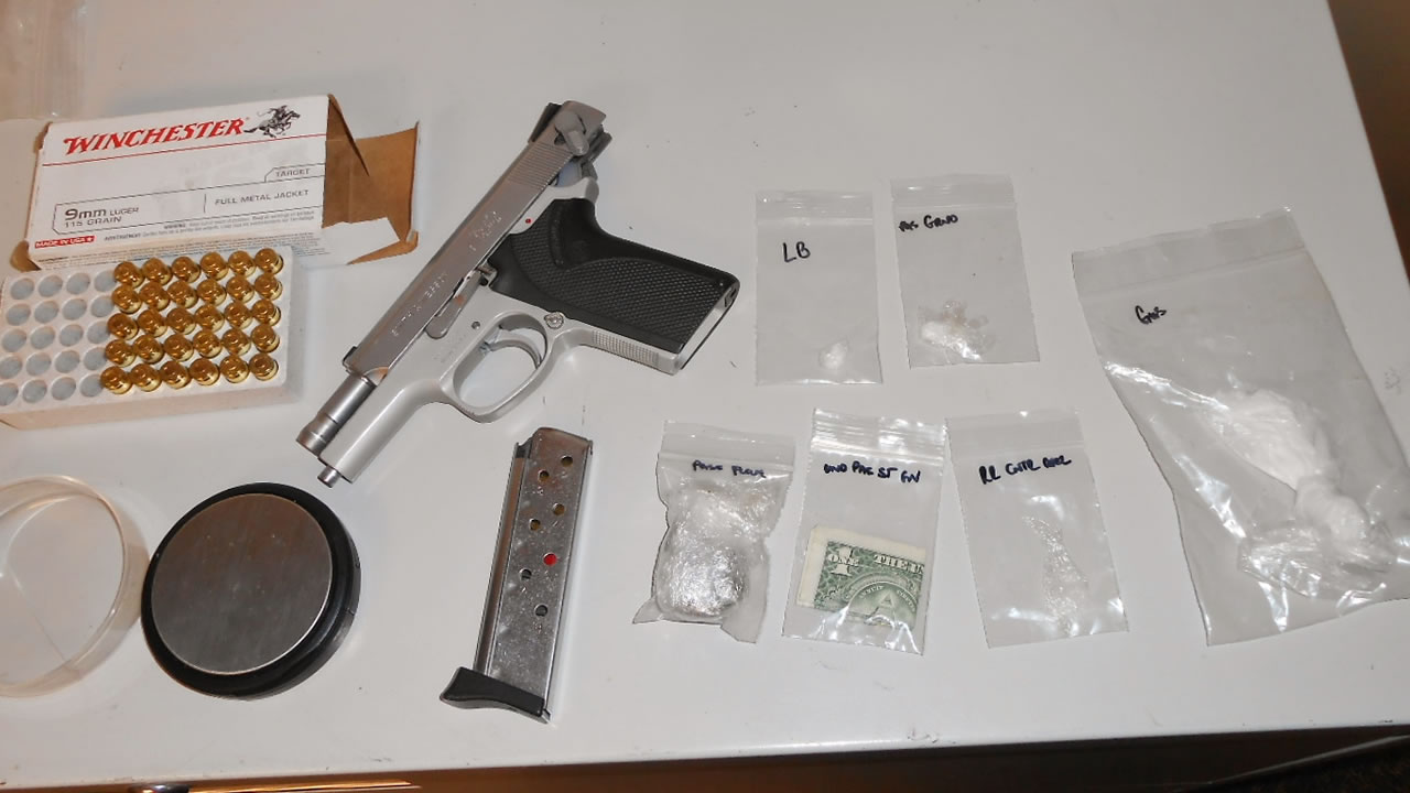 Officials say a traffic stop in San Mateo County led to 19-year-old Giovanni Hernandez's arrest in connection with a loaded gun and narcotics on Friday, February 12, 2016.