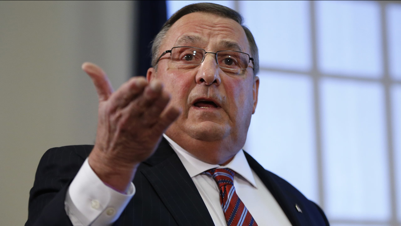 Gov. Paul LePage speaks at a news conference at the State House, Friday, Jan. 8, 2016, in Augusta, Maine. (AP Photo/Robert F. Bukaty)