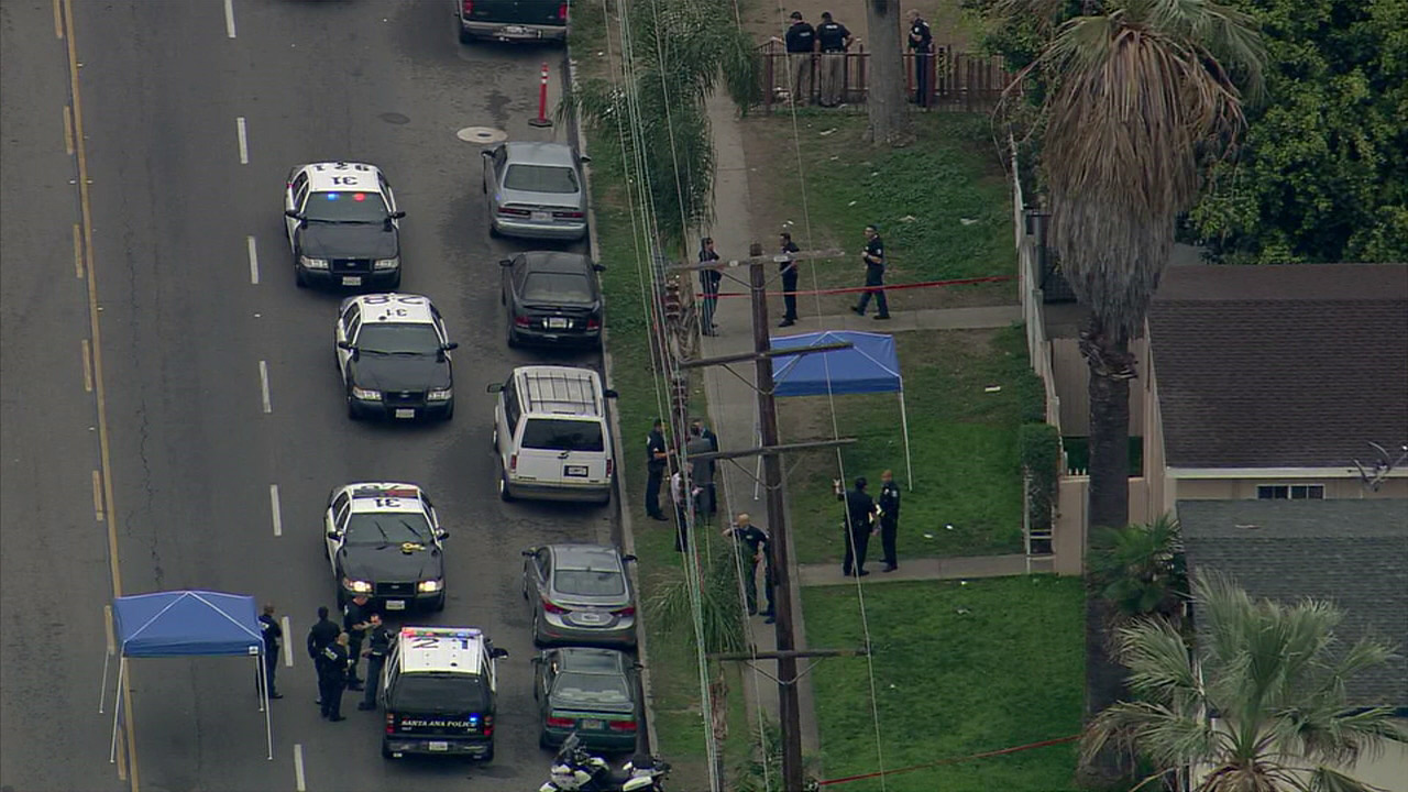 A police officer and a suspect were both injured during an officer-involved shooting in Santa Ana.