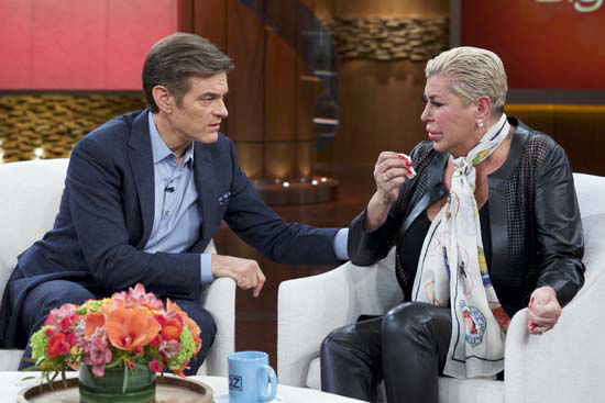 "<div class=""meta image-caption""><div class=""origin-logo origin-image none""><span>none</span></div><span class=""caption-text"">Dr. Mehmet Oz, left, comforts Angela ""Big Ang"" Raiola during a taping of ""The Dr. Oz Show,"" in New York. (AP Photo/The Dr. Oz Show)</span></div>"