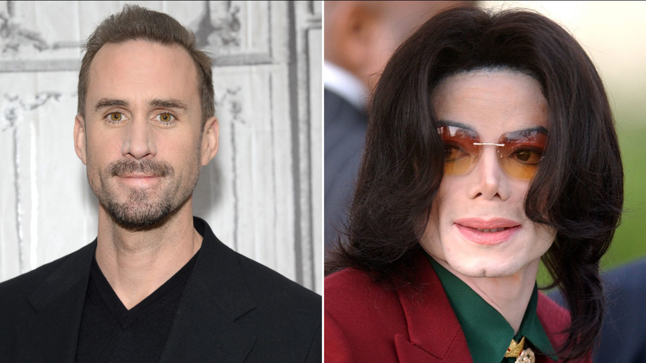 Actor Joseph Fiennes is shown in a 2016 file image alongside a 2009 file image of Michael Jackson.