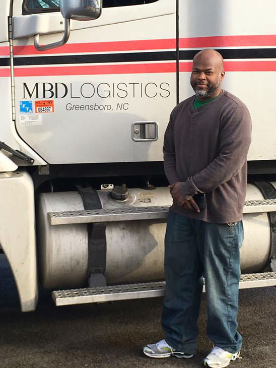 """<div class=""""meta image-caption""""><div class=""""origin-logo origin-image none""""><span>none</span></div><span class=""""caption-text"""">Will Brown with MBD Logistics is the truck driver who transported the water from North Carolina to Flint, Mich.</span></div>"""