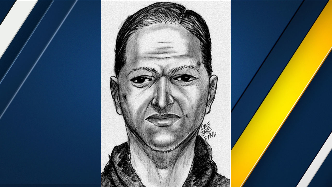 Authorities created a sketch of a man suspected of fondling a 10-year-old girl while she was on her way to school in El Monte.