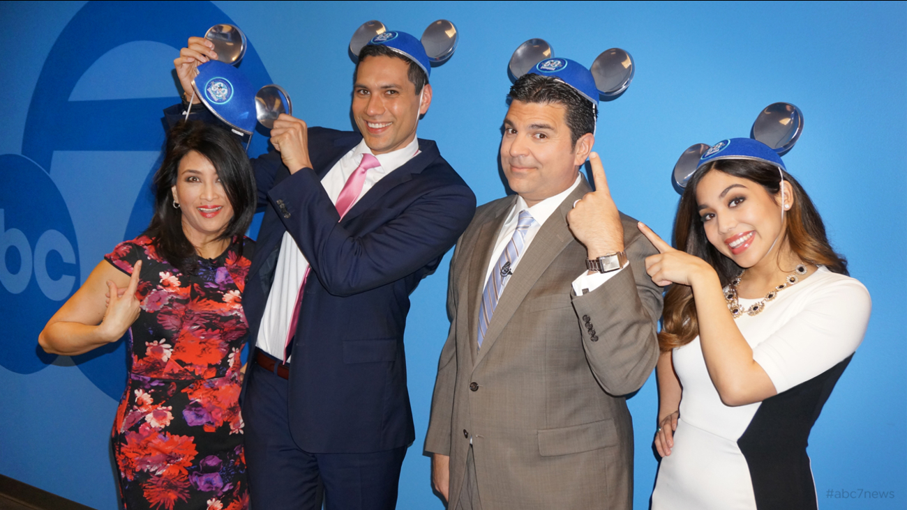 WE'RE ALL EARS!  The ABC7 Morning News Team have their ears, as part of the magical celebration of Disneyland's 60!