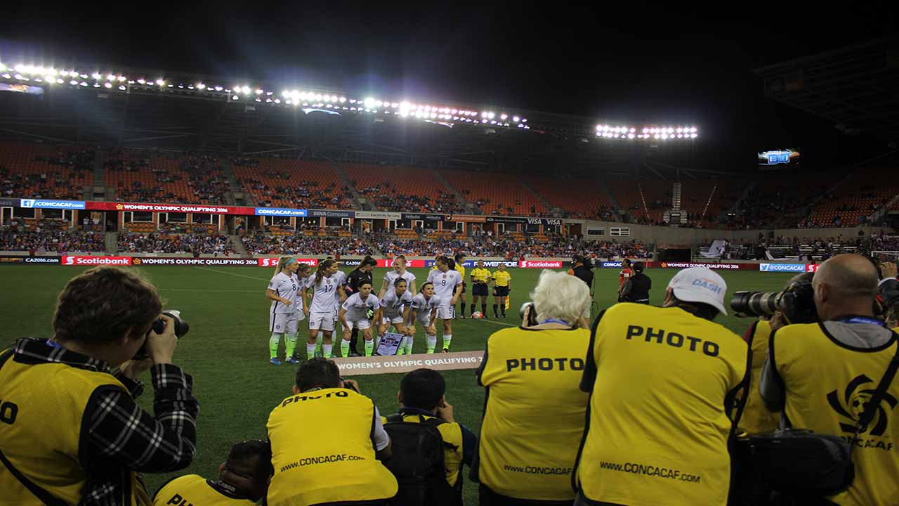 """<div class=""""meta image-caption""""><div class=""""origin-logo origin-image ktrk""""><span>KTRK</span></div><span class=""""caption-text"""">Scenes from the CONCACAF Women's Olympic Qualifying Championship semifinal matches at BBVA Compass Stadium. (Kirk Sowers)</span></div>"""