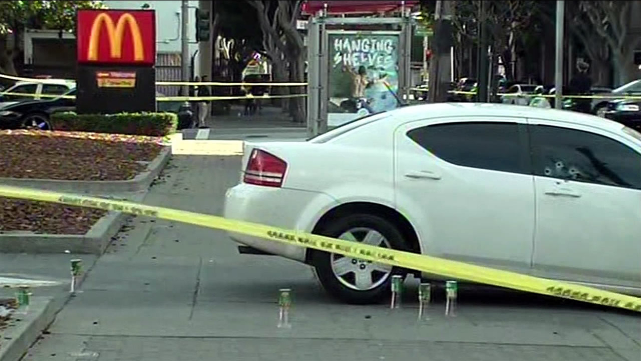 Police are investigating a shooting that occurred outside a McDonald's on Fillmore Street in San Francisco, Calif. on Sunday, February 21, 2016.
