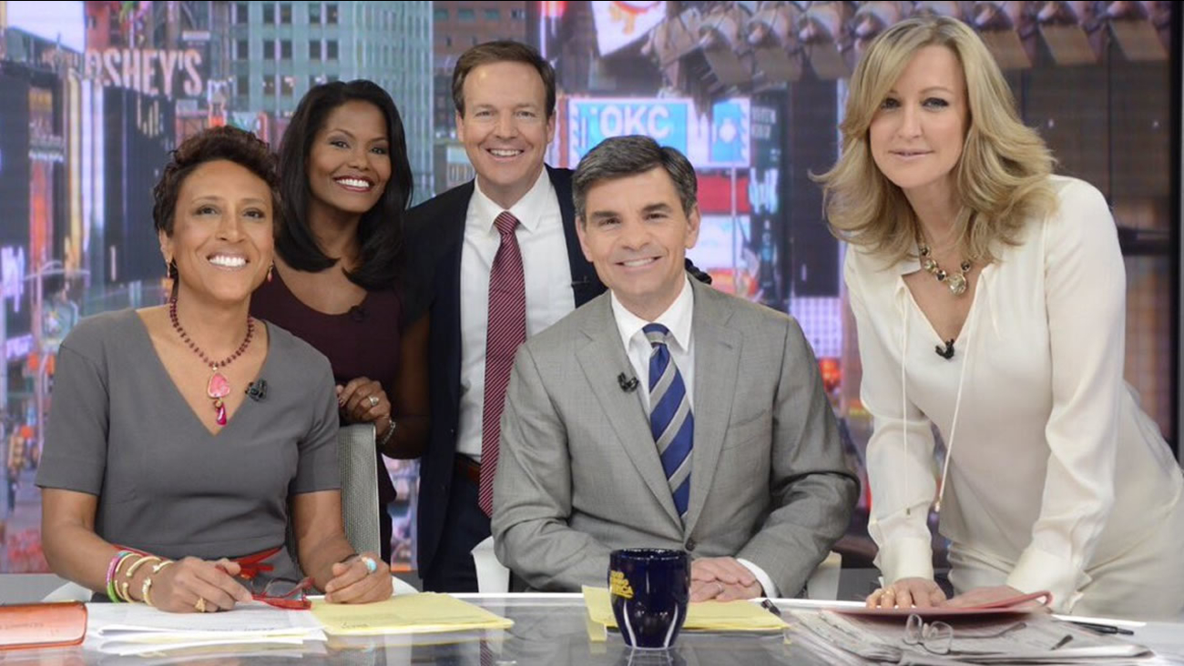 Tisha Powell and Steve Daniels visit the Good Morning America set