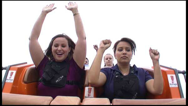 "<div class=""meta image-caption""><div class=""origin-logo origin-image ""><span></span></div><span class=""caption-text"">ABC7 reporter Jessica D'Onofrio rode the new record-breaking roller coaster Goliath, one day before it opens to the public at Six Flags Great America. (WLS Photo)</span></div>"