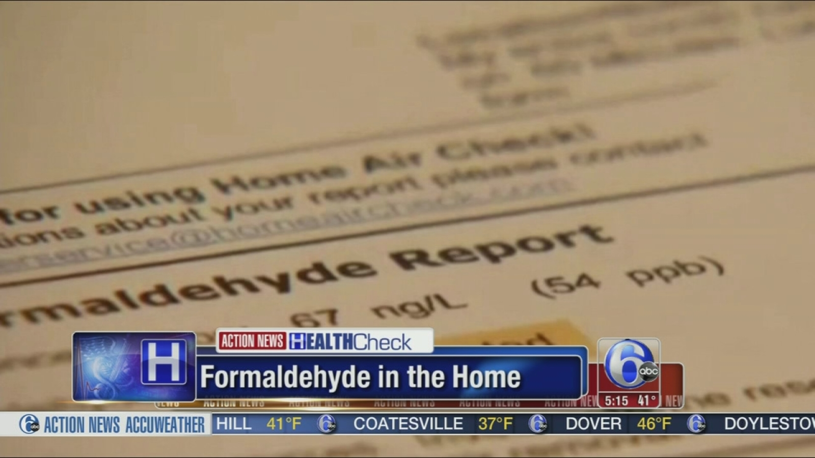 Formaldehyde Exposure In The Home Not