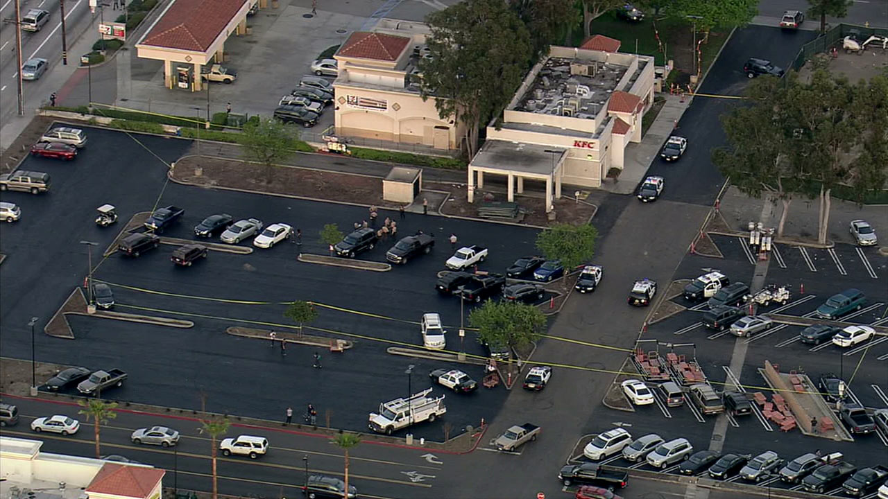 The Los Angeles County Sheriff's Department said a male was shot and killed in the parking lot of 7-Eleven in Norwalk on Tuesday, Feb. 23, 2016.