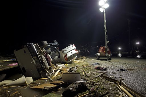 "<div class=""meta image-caption""><div class=""origin-logo origin-image none""><span>none</span></div><span class=""caption-text"">Destroyed trailers and vehicles are all that remain of the Sugar Hill RV Park after a suspected tornado hit in Convent, La. (AP Photo/Max Becherer)</span></div>"