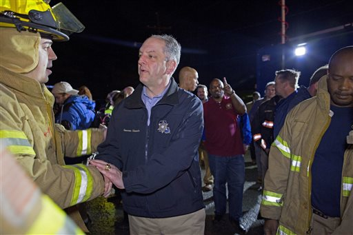 "<div class=""meta image-caption""><div class=""origin-logo origin-image none""><span>none</span></div><span class=""caption-text"">Louisiana Governor John Bel Edwards thanks first responders.  (AP Photo/Max Becherer)</span></div>"