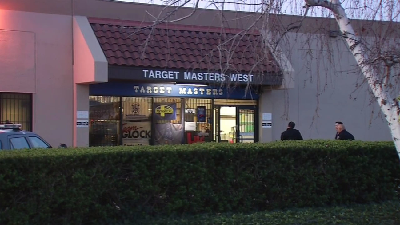 A burglary suspect was arrested after a standoff inside Target Masters West in Milpitas, Calif. on Wednesday, February 24, 2016.
