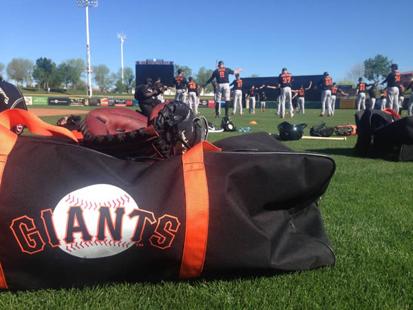 """<div class=""""meta image-caption""""><div class=""""origin-logo origin-image none""""><span>none</span></div><span class=""""caption-text"""">The San Francisco Giants practice during Spring training in Arizona on February 23, 2016. Photo submitted to KGO-TV by @MikeShumann/Twitter (The San Francisco Giants practice during Spring training in Arizona on February 23, 2016.)</span></div>"""