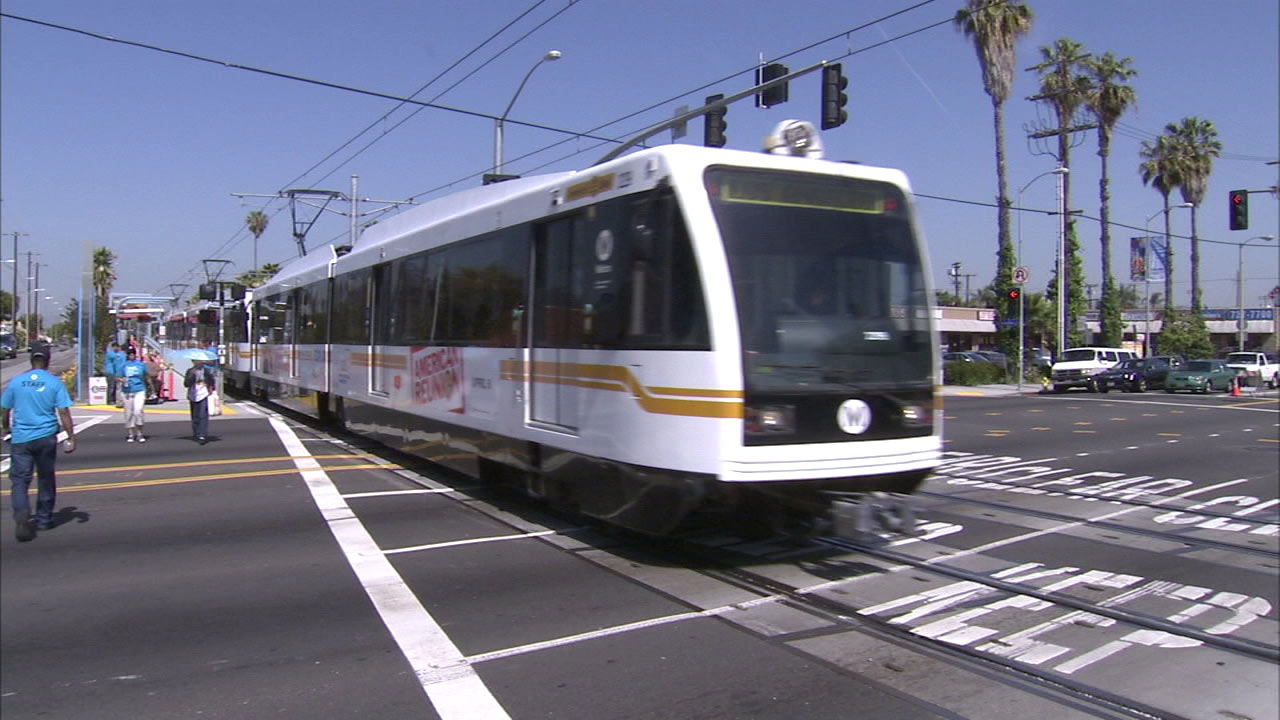 A Los Angeles Metro train is seen in this undated file photo.