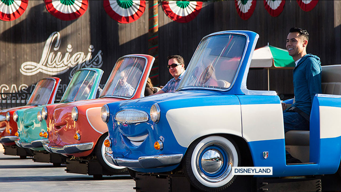 File photo of Luigi's Rollickin' Roadsters at Disney's California Adventure.