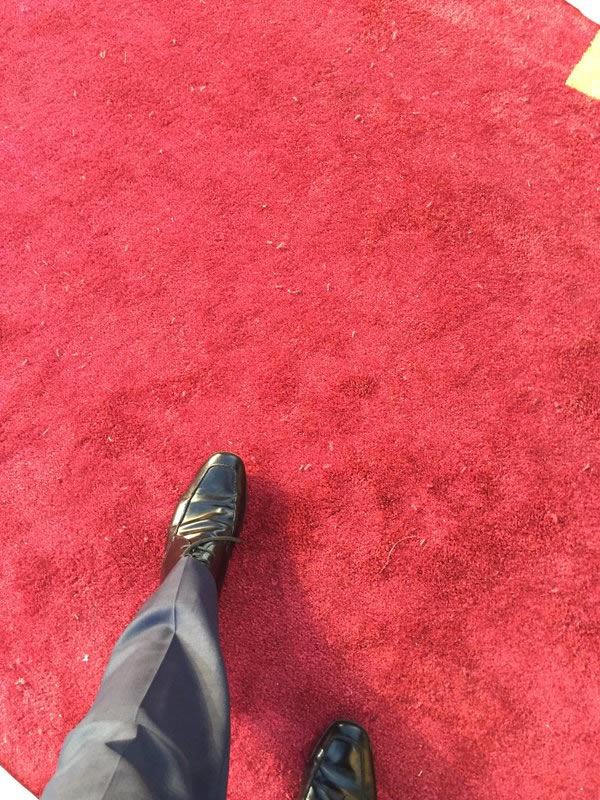 """<div class=""""meta image-caption""""><div class=""""origin-logo origin-image none""""><span>none</span></div><span class=""""caption-text"""">Only a sliver of the red carpet is exposed in front of the Dolby Theater ahead of the Oscars in Los Angeles on Friday, February 26, 2016. (KGO-TV/Matt Keller)</span></div>"""