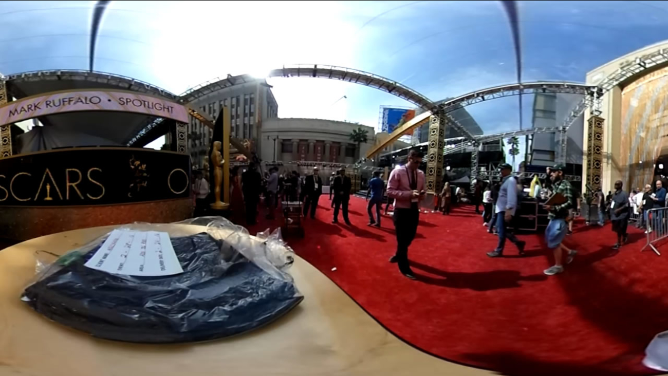 Behind the scenes of Hollywood Boulevard in Los Angeles on Saturday, February 27, 2016, as it prepares for the Oscars.