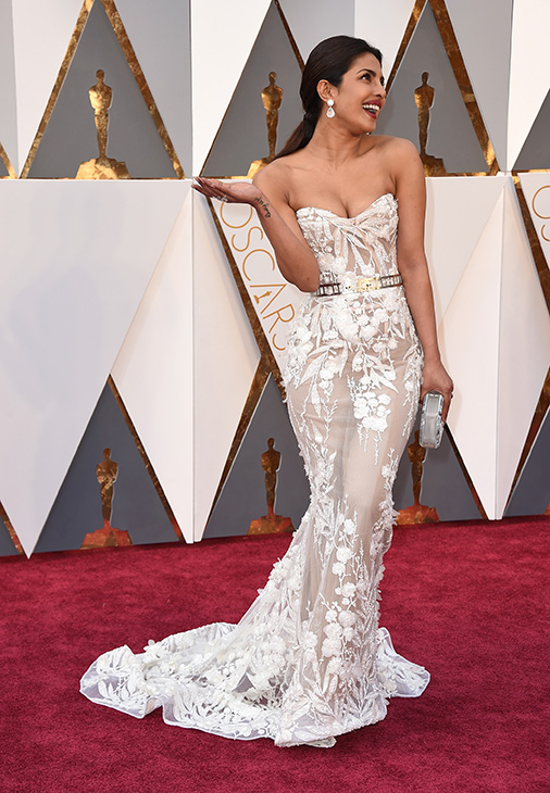 "<div class=""meta image-caption""><div class=""origin-logo origin-image ap""><span>AP</span></div><span class=""caption-text"">Priyanka Chopra arrives at the Oscars on Sunday, Feb. 28, 2016, at the Dolby Theatre in Los Angeles. (Jordan Strauss/Invision/AP)</span></div>"