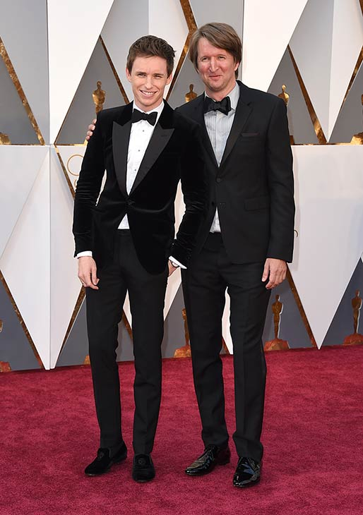 "<div class=""meta image-caption""><div class=""origin-logo origin-image ap""><span>AP</span></div><span class=""caption-text"">Eddie Redmayne, left, and Tom Hooper arrive at the Oscars on Sunday, Feb. 28, 2016, at the Dolby Theatre in Los Angeles. (The Associated Press)</span></div>"