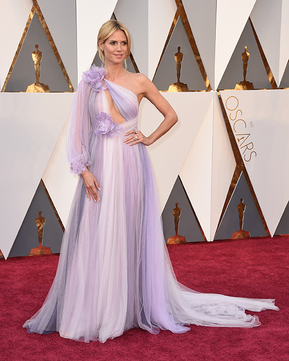 "<div class=""meta image-caption""><div class=""origin-logo origin-image ap""><span>AP</span></div><span class=""caption-text"">Heidi Klum arrives at the Oscars on Sunday, Feb. 28, 2016, at the Dolby Theatre in Los Angeles. (Jordan Strauss/Invision/AP)</span></div>"