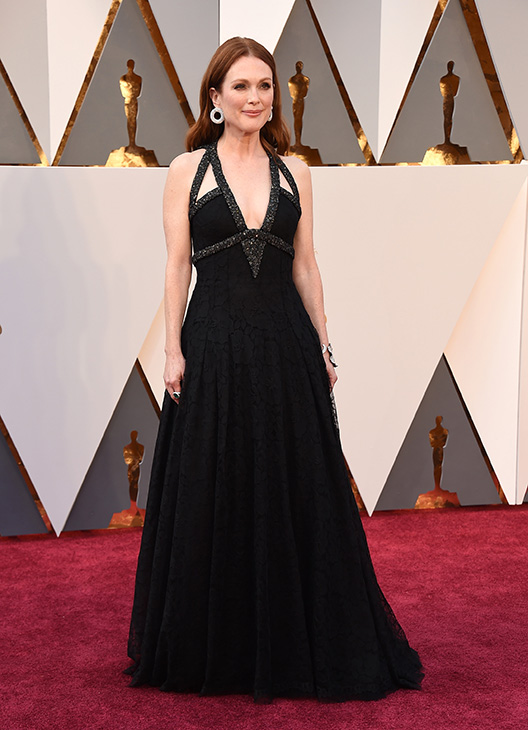 "<div class=""meta image-caption""><div class=""origin-logo origin-image ap""><span>AP</span></div><span class=""caption-text"">Julianne Moore arrives at the Oscars on Sunday, Feb. 28, 2016, at the Dolby Theatre in Los Angeles. (Jordan Strauss/Invision/AP)</span></div>"