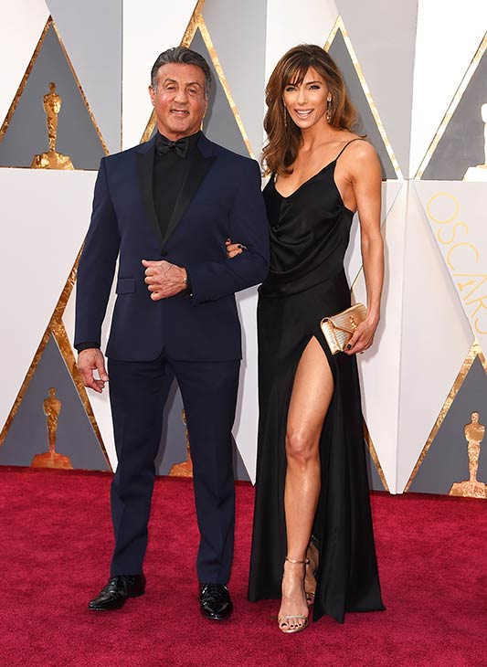 "<div class=""meta image-caption""><div class=""origin-logo origin-image ap""><span>AP</span></div><span class=""caption-text"">Sylvester Stallone and his wife, Jennifer Flavin, arrive at the Oscars on Sunday, Feb. 28, 2016, at the Dolby Theatre in Los Angeles. (Photo by Jordan Strauss/Invision/AP)</span></div>"
