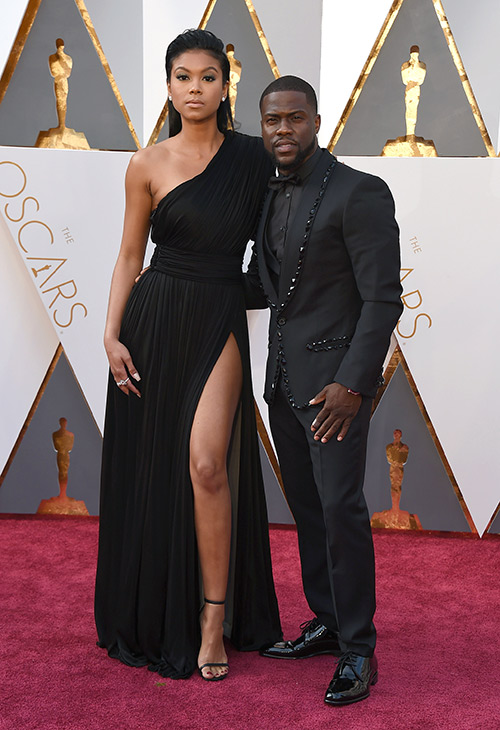 "<div class=""meta image-caption""><div class=""origin-logo origin-image ap""><span>AP</span></div><span class=""caption-text"">Eniko Parrish, left, and Kevin Hart arrive at the Oscars on Sunday, Feb. 28, 2016, at the Dolby Theatre in Los Angeles. (Jordan Strauss/Invision/AP)</span></div>"