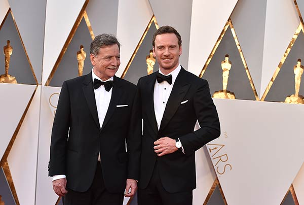 "<div class=""meta image-caption""><div class=""origin-logo origin-image ap""><span>AP</span></div><span class=""caption-text"">Michael Fassbender, right, with his father, Josef Fassbender, arrive at the Oscars on Sunday, Feb. 28, 2016, at the Dolby Theatre in Los Angeles. (Photo by Jordan Strauss/Invision/AP)</span></div>"