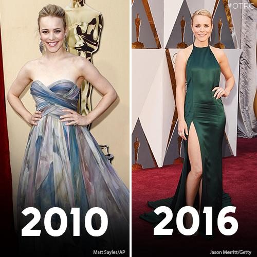 "<div class=""meta image-caption""><div class=""origin-logo origin-image kfsn""><span>kfsn</span></div><span class=""caption-text"">Rachel McAdams arrives during the 82nd Academy Awards Sunday, March 7, 2010 (left). Rachel McAdams arrives at the Oscars on Sunday, Feb. 28, 2016 (right). (Matt Sayles/AP and Jason Merritt/Getty)</span></div>"