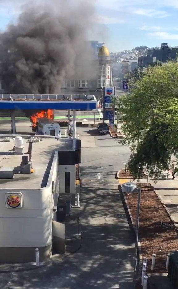 "<div class=""meta image-caption""><div class=""origin-logo origin-image none""><span>none</span></div><span class=""caption-text"">A bus caught fire at a gas station in San Francisco on Monday, February 29, 2016. (@mollymerp/Twitter)</span></div>"