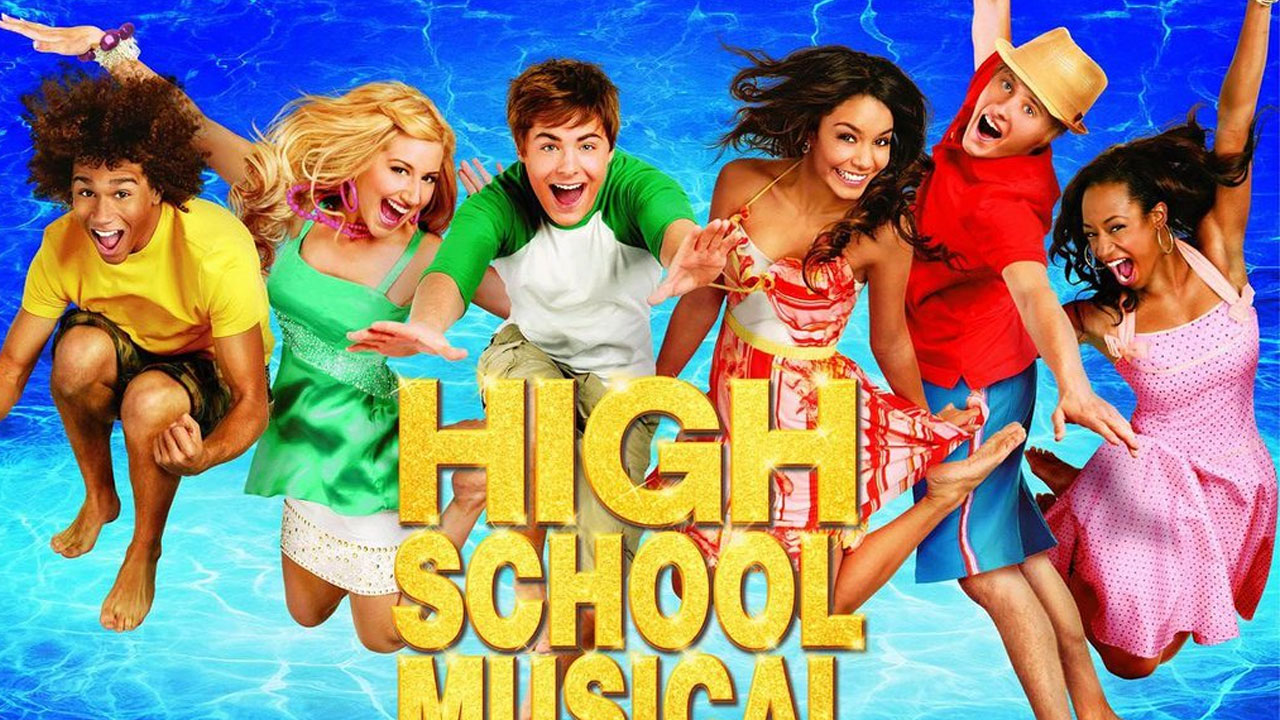 """A promotional photo for """"High School Musical 2"""" is shown."""