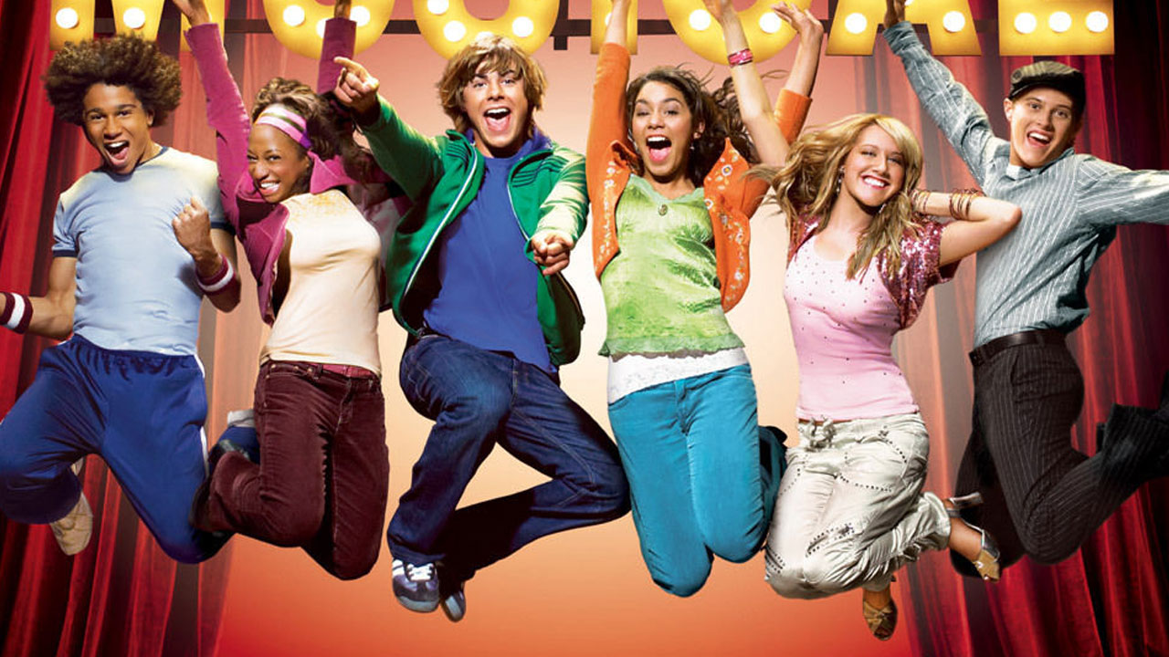 "A promotional posted from the original ""High School Musical"" is shown."