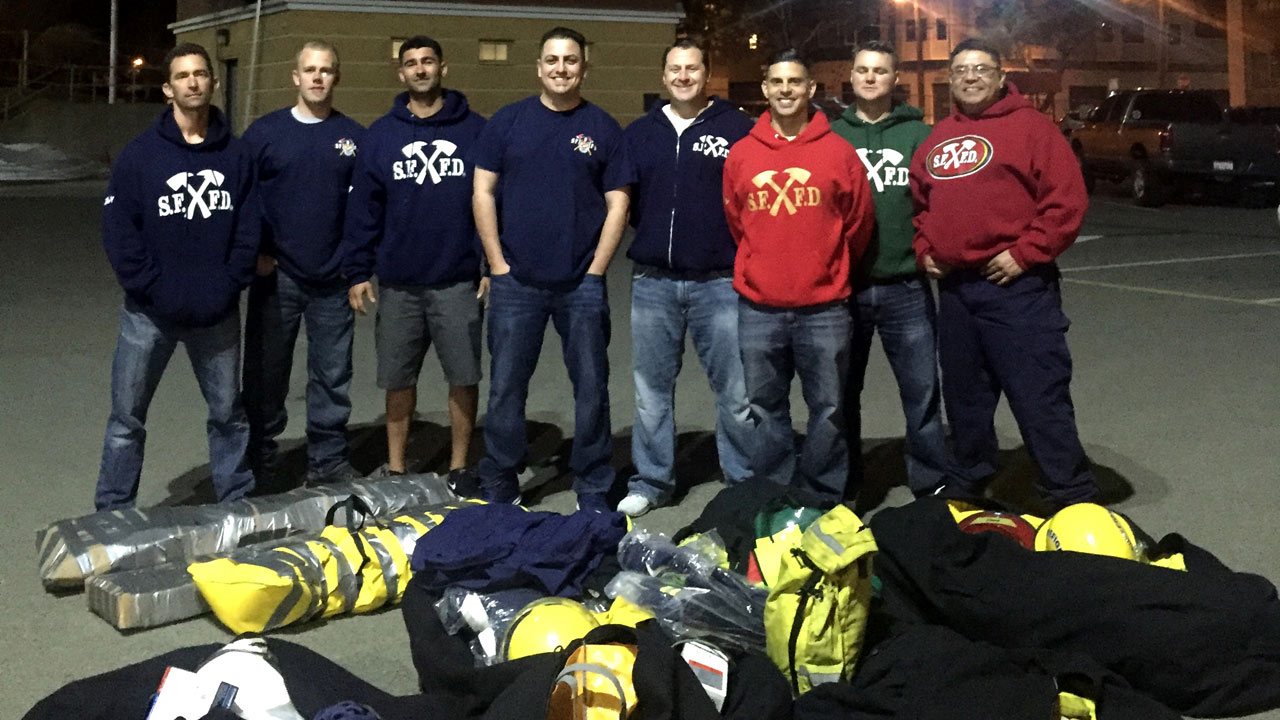 San Francisco firefighters have packed up to help rescuers in Nicaragua, Thursday, March 3, 2016.