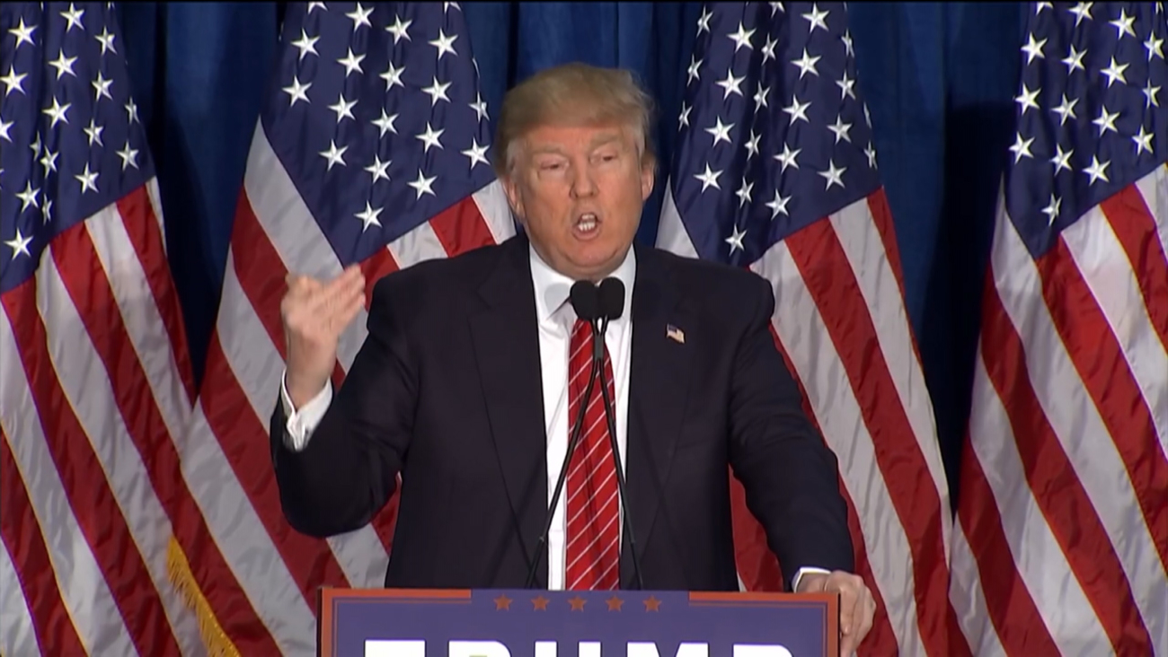 Donald Trump at a campaign rally, March 3, 2016