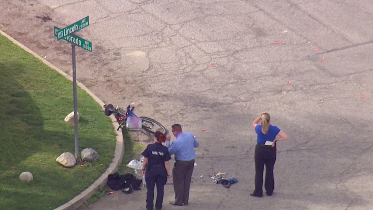 San Bernardino police investigate a fatal shooting near Colorado and W. Lincoln avenues Thursday, March 3, 2016.