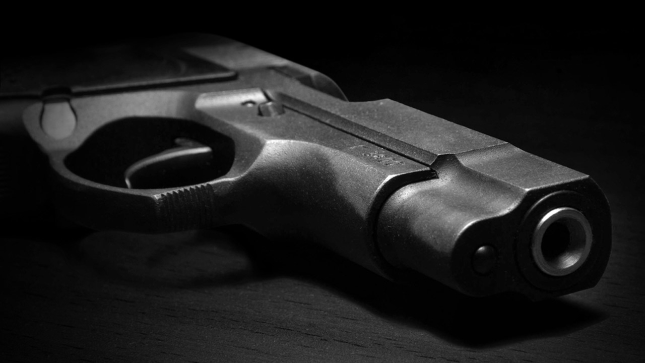 A handgun is seen in this undated file photo.