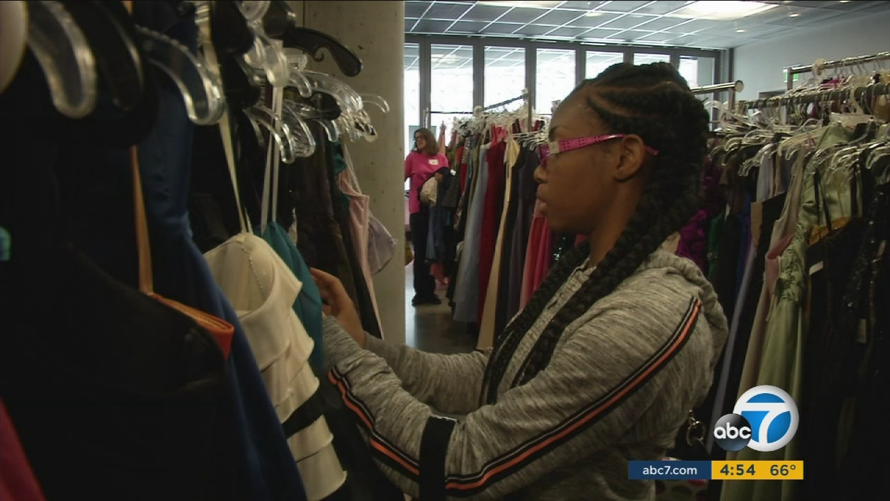 Free prom dresses, shoes donated to homeless LAUSD girls | abc7.com