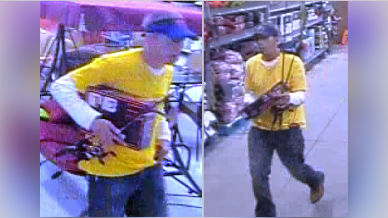 Suspect in Wal-Mart theft