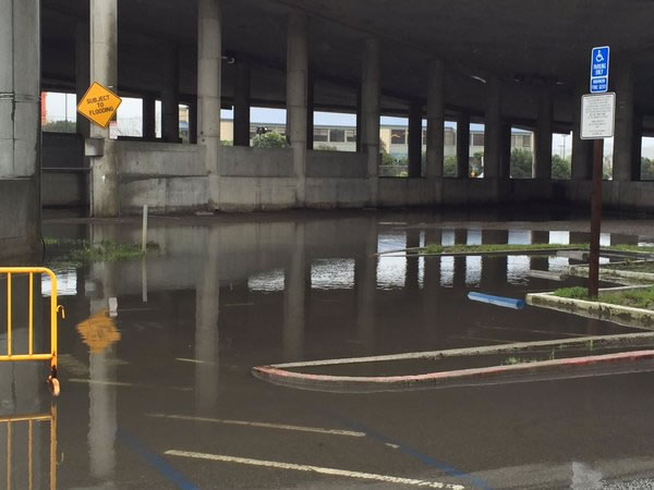 "<div class=""meta image-caption""><div class=""origin-logo origin-image none""><span>none</span></div><span class=""caption-text"">Parts of the Manzanita Park and Ride were already flooded Saturday morning before the heavy rains hit the Bay Area March 5, 2016. (KGO-TV/ Elissa Harrington)</span></div>"