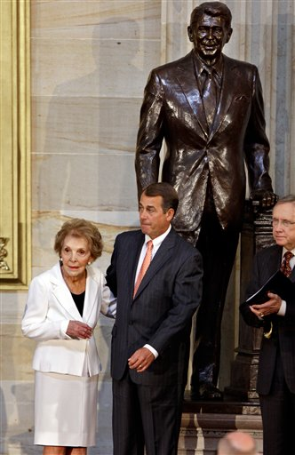 "<div class=""meta image-caption""><div class=""origin-logo origin-image ap""><span>AP</span></div><span class=""caption-text"">A statue of Ronald Reagan looms in the Capitol Rotunda in Washington DC. (AP)</span></div>"