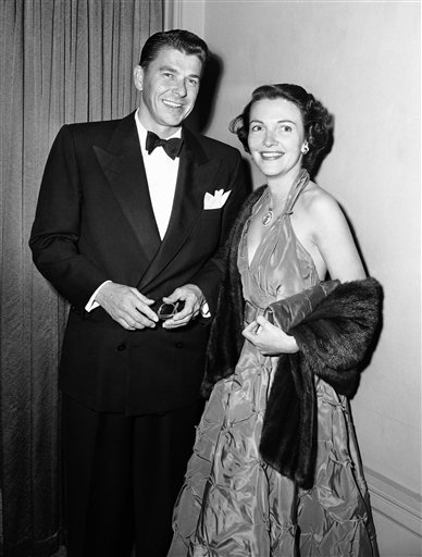 <div class='meta'><div class='origin-logo' data-origin='AP'></div><span class='caption-text' data-credit='AP'>Ronald Reagan and Nancy Davis arrive for the Screen Writers Guild Dinner at the Ambassador Hotel, Hollywood, Calif. on Feb. 22, 1951</span></div>